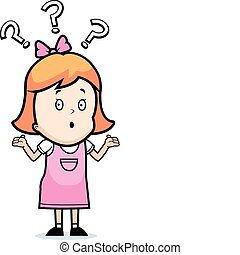 Girl Confused - A cartoon girl with a confused expression.