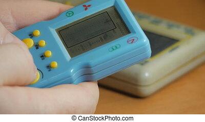 girl, console, 90s, tetris, jeux, jeu