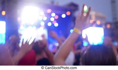Girl crowd smartphone video