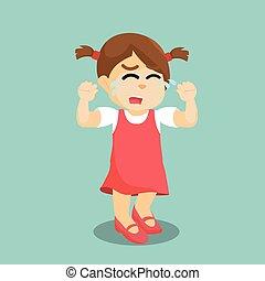 girl crying illustration design