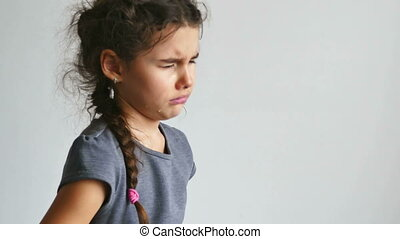 girl crying  - girl teen crying depression tears flow