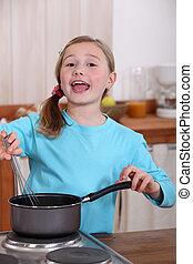 girl, cuisine