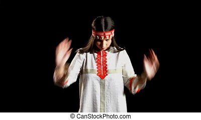girl dance in traditional costume