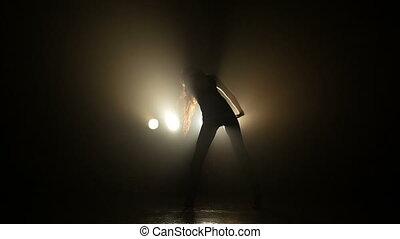 Girl dancing in a club