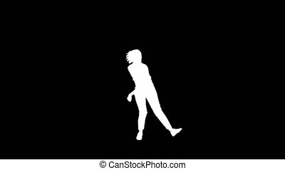girl dancing in silhouettes