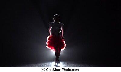 Girl dancing latino. Slow motion