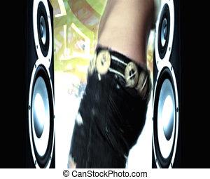Girl dancing the hip hop.