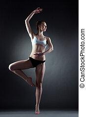 girl, danse, poser, image, gracieux, pose