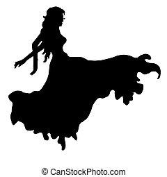 girl, danser.