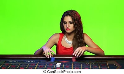 Girl decides to put all chips in casino, but loses - Girl...