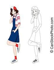 Girl Denim Fashion Asian No.4