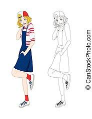 Girl Denim Fashion Caucasian No.4