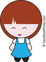 girl, dessin animé