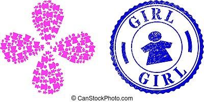 Girl Distress Seal and Girl Swirl Twist