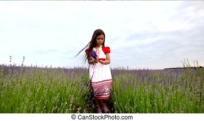 Girl Doing a Bunch of Lavender