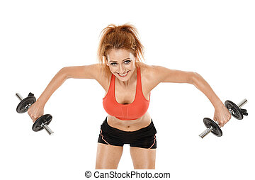 Girl doing fitness workout