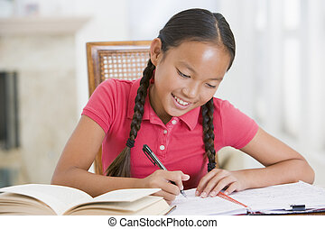 Girl Doing Her Homework