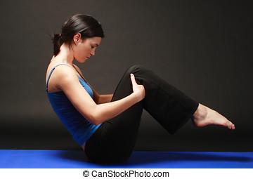 Girl doing pilates