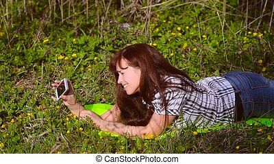 Girl doing selfie with your phone