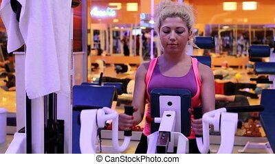 girl doing sports in a gym 11