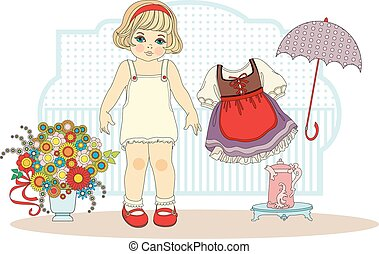 girl doll with clothes