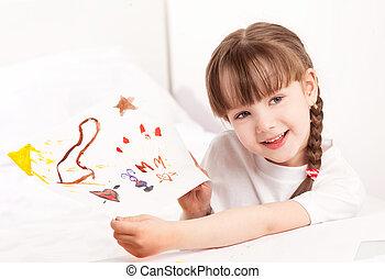 girl drawing