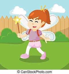 girl dressed fairy