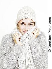 girl dressed warm