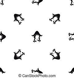 Girl dutch pattern seamless black