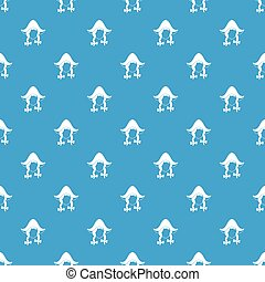 Girl dutch pattern seamless blue