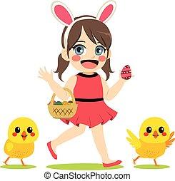 Girl Easter Chicks