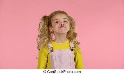 girl, elle, confection, vilain, projection, mignon, langue, ...