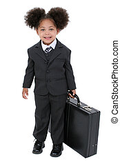 girl, enfant, business