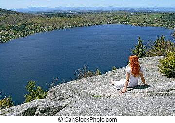 Girl enjoying the view