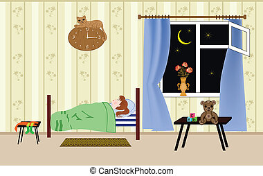 teddy dormir doux oreiller illustration ours dormir. Black Bedroom Furniture Sets. Home Design Ideas
