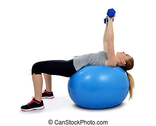 Girl exercising workout fitness