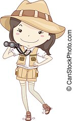 girl, explorateur, gosse