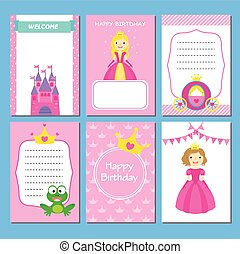 girl, fêtede l'anniversaire, cartes