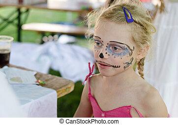 girl, facepainting