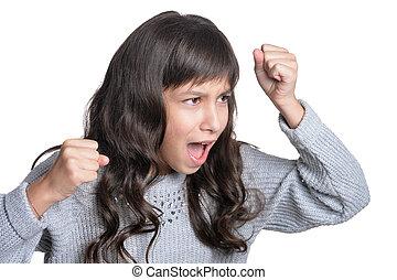 girl feeling angry