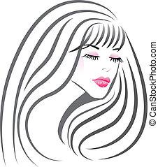 girl, figure, silhouette, beau