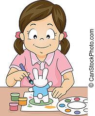 girl, figurine, peinture
