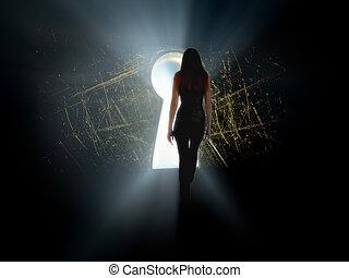 girl find access to big secret