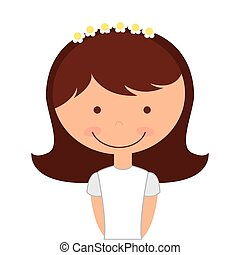 girl first communion icon