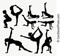 Girl fitness silhouettes