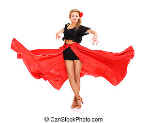 girl, flamenco