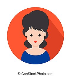 girl flat icon