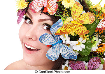 girl, fleur, flower.