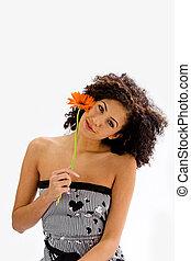 girl, fleur, jeune
