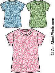 girl floral t-shirts